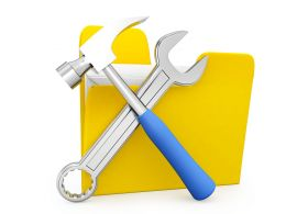Folder With Tool Stock Photo