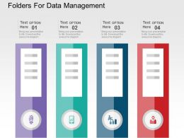 Folders For Data Management Flat Powerpoint Design