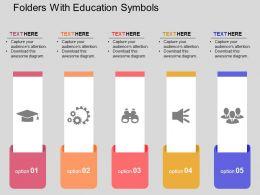 folders_with_education_symbols_flat_powerpoint_design_Slide01