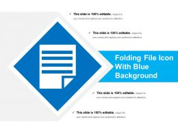 Folding File Icon With Blue Background
