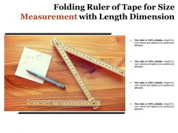 Folding Ruler Of Tape For Size Measurement With Length Dimension