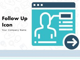 Follow Up Icon Arrows Indicator Performance Review Marketing Campaign