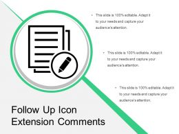 Follow Up Icon Extension Comments