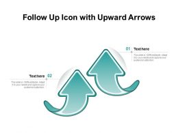 Follow Up Icon With Upward Arrows