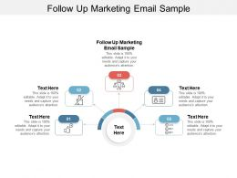 Follow Up Marketing Email Sample Ppt Powerpoint Presentation Demonstration Cpb