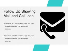 Follow Up Showing Mail And Call Icon