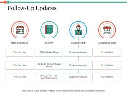 Follow Up Updates Ppt Infographic Template Example Introduction