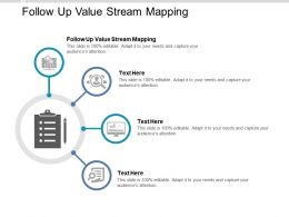Follow Up Value Stream Mapping Ppt Powerpoint Presentation File Design Templates Cpb
