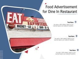 Food Advertisement For Dine In Restaurant