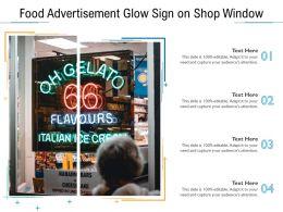 Food Advertisement Glow Sign On Shop Window