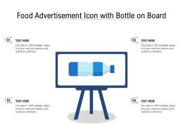 Food Advertisement Icon With Bottle On Board