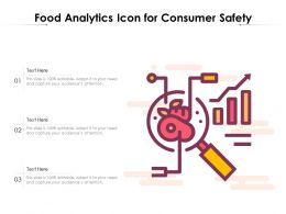 Food Analytics Icon For Consumer Safety