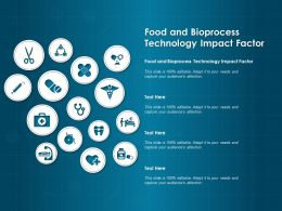 Food And Bioprocess Technology Impact Factor Ppt Powerpoint Presentation Professional