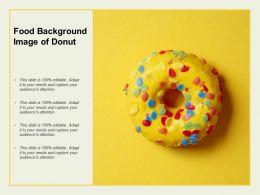 Food Background Image Of Donut