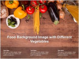 Food Background Image With Different Vegetables