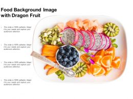 Food Background Image With Dragon Fruit