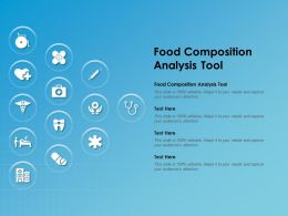 Food Composition Analysis Tool Ppt Powerpoint Presentation Infographics Templates