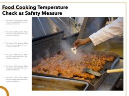 Food Cooking Temperature Check As Safety Measure