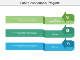 Food Cost Analysis Program Ppt Powerpoint Presentation Outline Slide Cpb