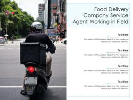Food Delivery Company Service Agent Working In Field Infographic Template
