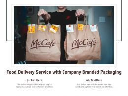Food Delivery Service With Company Branded Packaging