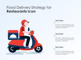 Food Delivery Strategy For Restaurants Icon