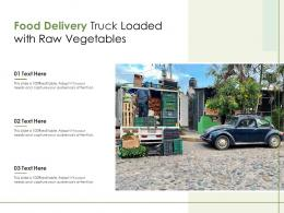 Food Delivery Truck Loaded With Raw Vegetables Infographic Template