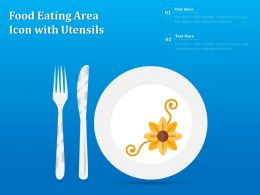 Food Eating Area Icon With Utensils