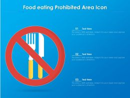 Food Eating Prohibited Area Icon