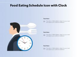 Food Eating Schedule Icon With Clock