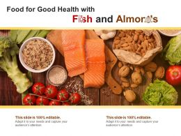 Food For Good Health With Fish And Almonds