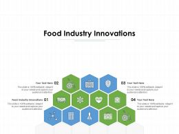 Food Industry Innovations Ppt Powerpoint Presentation Show Graphics