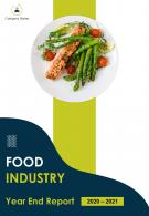 Food Industry Year End Annual Report PDF DOC PPT Document Report Template