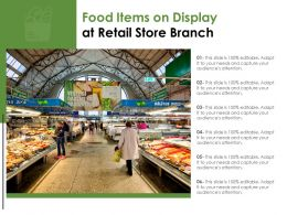 Food Items On Display At Retail Store Branch