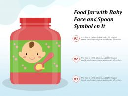 Food Jar With Baby Face And Spoon Symbol On It