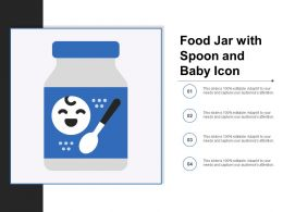 Food Jar With Spoon And Baby Icon