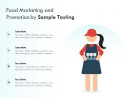 Food Marketing And Promotion By Sample Tasting
