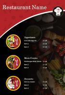 Food Menu Two Page Brochure Template