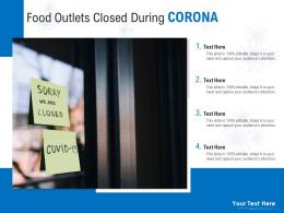 Food Outlets Closed During Corona