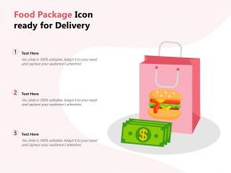Food Package Icon Ready For Delivery