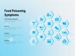 Food Poisoning Symptoms Ppt Powerpoint Presentation Layouts Backgrounds
