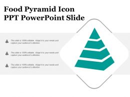 Food Pyramid Icon Ppt Powerpoint Slide