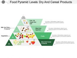 Food Pyramid Levels Dry And Cereal Products
