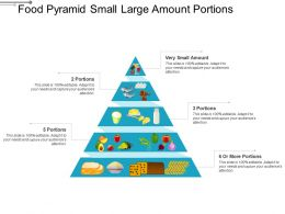 Food Pyramid Small Large Amount Portions