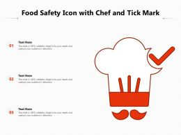 Food Safety Icon With Chef And Tick Mark