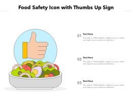 Food Safety Icon With Thumbs Up Sign