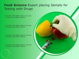 Food Science Expert Placing Sample For Testing With Drugs