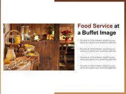 Food Service At A Buffet Image