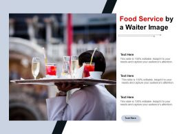 Food Service By A Waiter Image