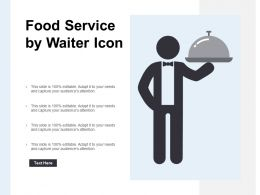Food Service By Waiter Icon